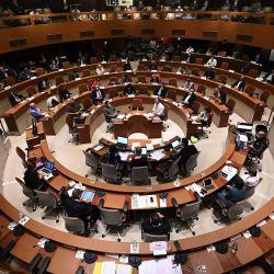 Vista general del consejo de la Eurometrópolis de Estrasburgo en el Ayuntamiento de Estrasburgo, este de Francia. (Foto de FREDERICK FLORIN / AFP) | Foto:afp