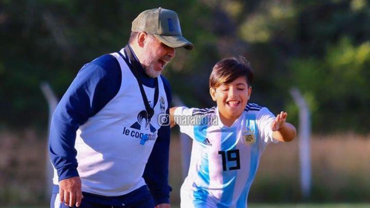 El emotivo posteo de Diego Maradona dedicado a su nieto, Benjamín