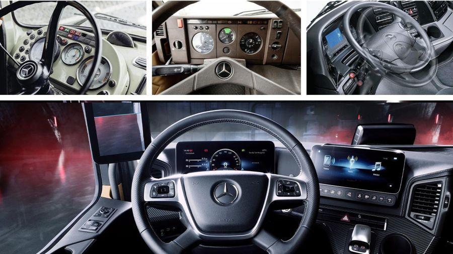 Cómo cambiaron las cabinas de los camiones de Mercedes en 60 años