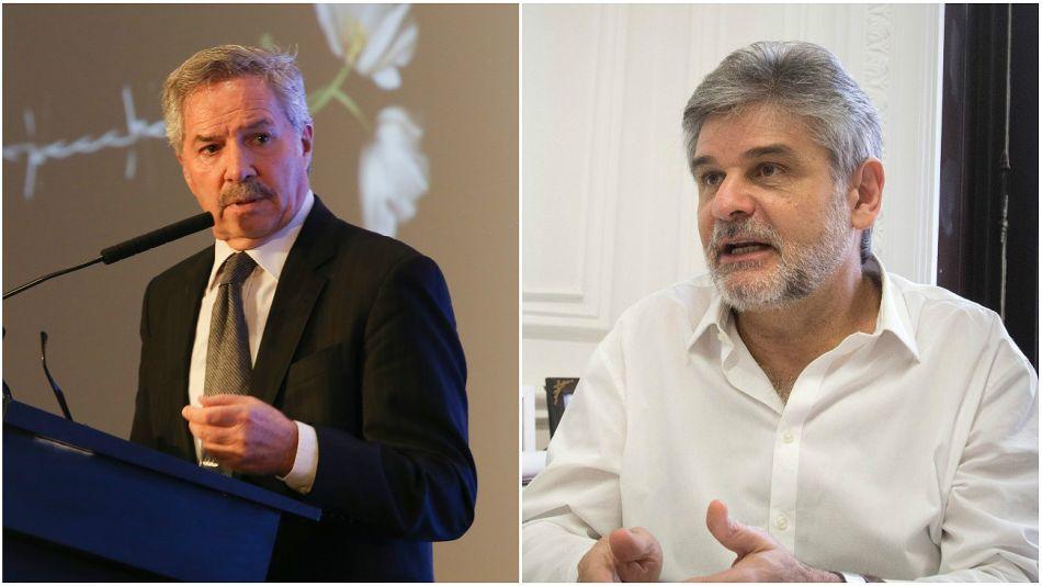 El canciller Felipe Solá y el secretario de Malvinas, Daniel Filmus.