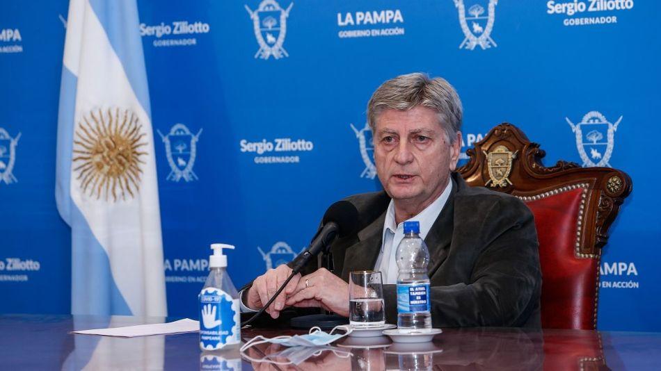 gobernador de La Pampa, Sergio Ziliotto