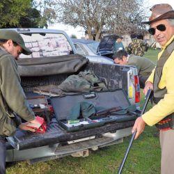 Preparación y equipamiento. La caza de liebre se realiza en grupo usando escopetas de largo alcance y buena iluminación.