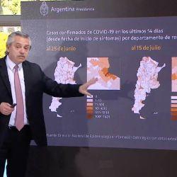 Alberto Fernández con datos de coronavirus | Foto:cedoc