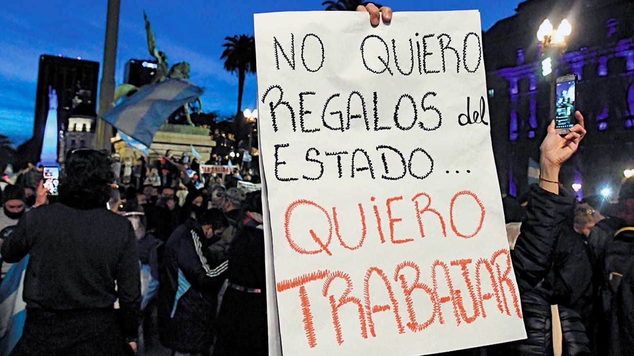 Protestas. Expresan un rechazo a las políticas implementadas.