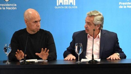 Larreta y Alberto Fernández, una relación afianzada por la pandemia.