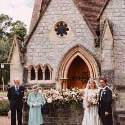 Así es el vestido de la reina Isabel que usó Beatriz de York para su casamiento