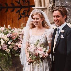 Beatriz de York para su casamiento usó un vestido de la reina Isabel.