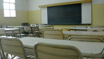 AULAS VACÍAS. En Córdoba las clases no volverán de manera presencial tras el receso invernal.