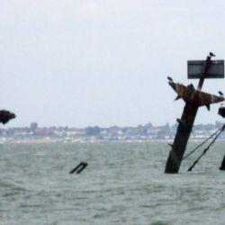El SS Montgomery se hundió, en el río Támesis, el 20 de agosto de 1944, llevando una gran cantidad de explosivos abordo.