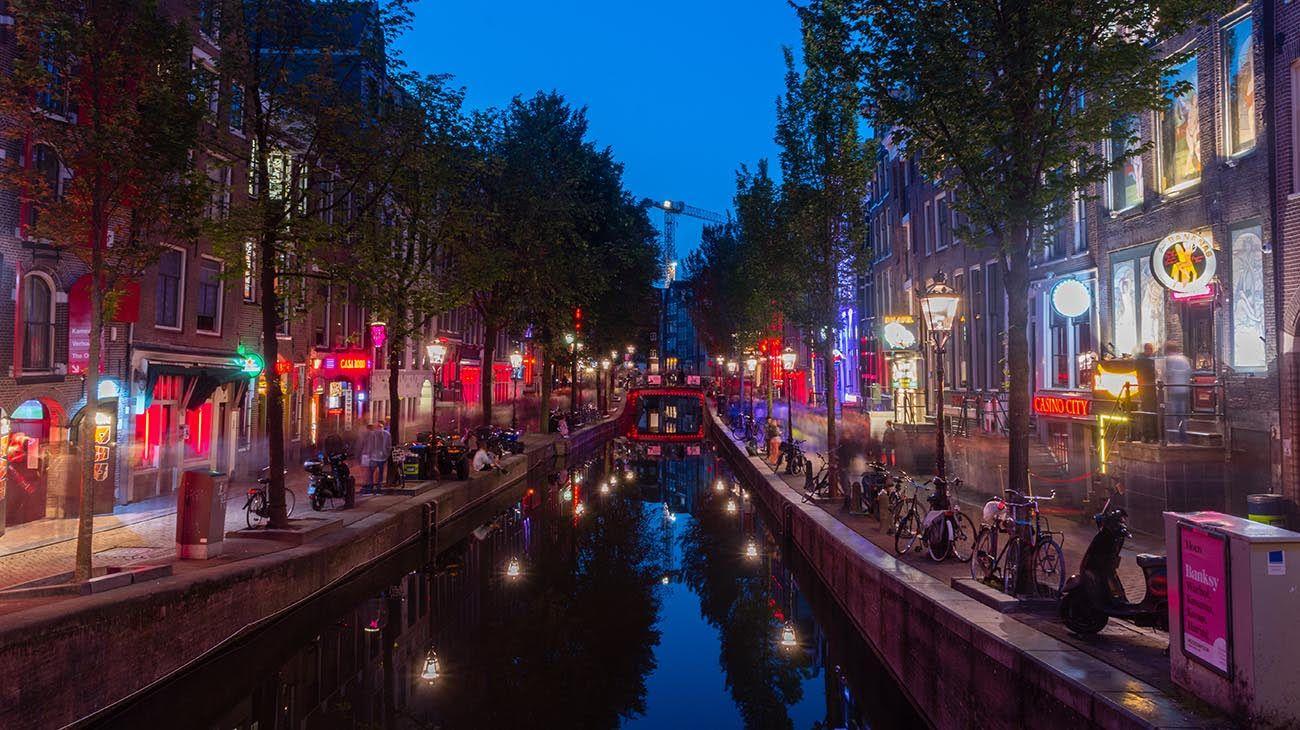La zona roja de Amsterdam.