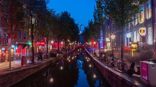 La zona roja de Amsterdam