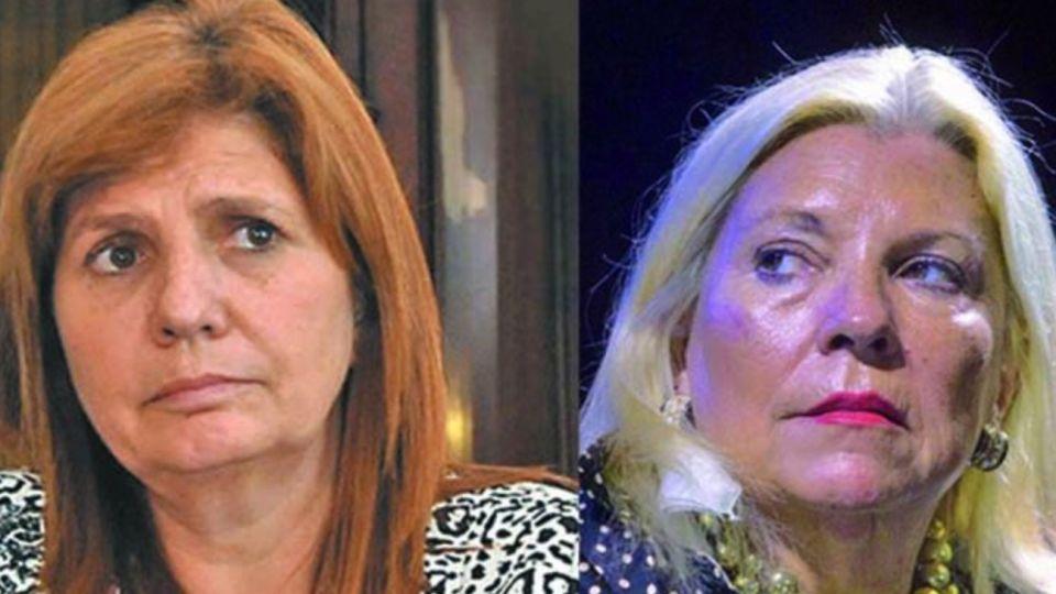 Patricia Bullrich y Elisa Carrió.