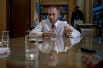 Ministro de Economía Martín Guzman, durante una entrevista con Bloomberg.