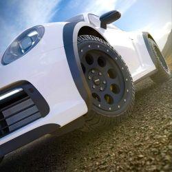 El Porsche deberá contar con una suspensión a la altura de las circunstancias y unos neumáticos todoterreno.