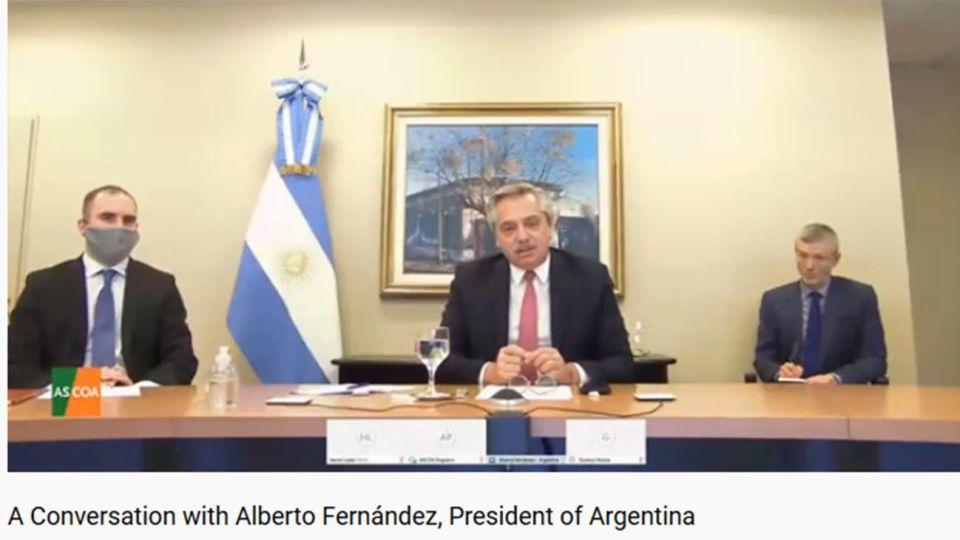 Alberto Fernández habla con el establishment en el Council of Americas 20200721