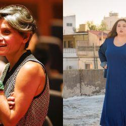 Lala Pasquinilli y Brenda Mato