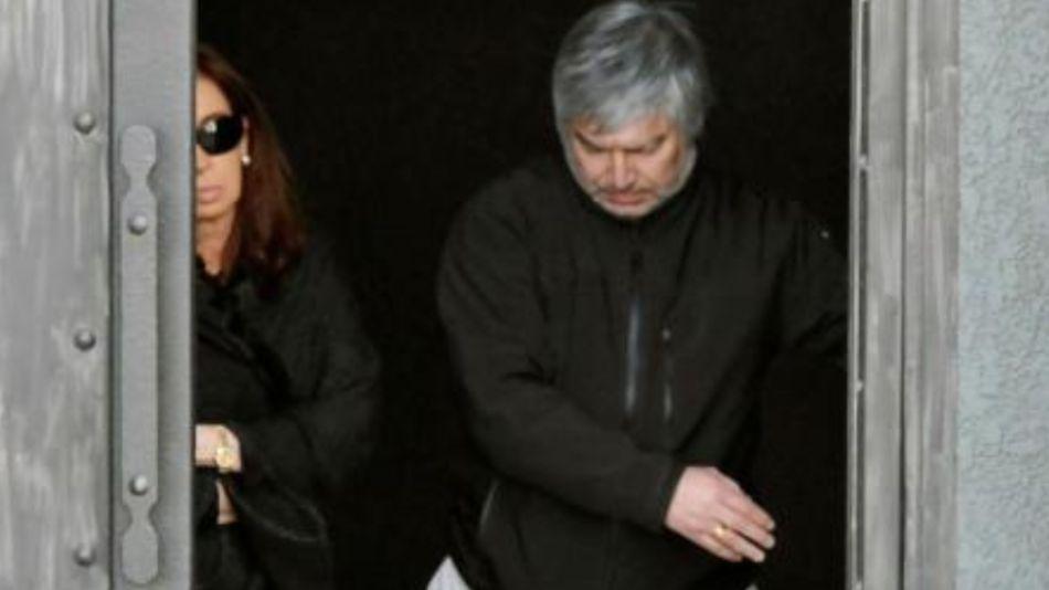 Cristina Fernández y Lázaro Báez.