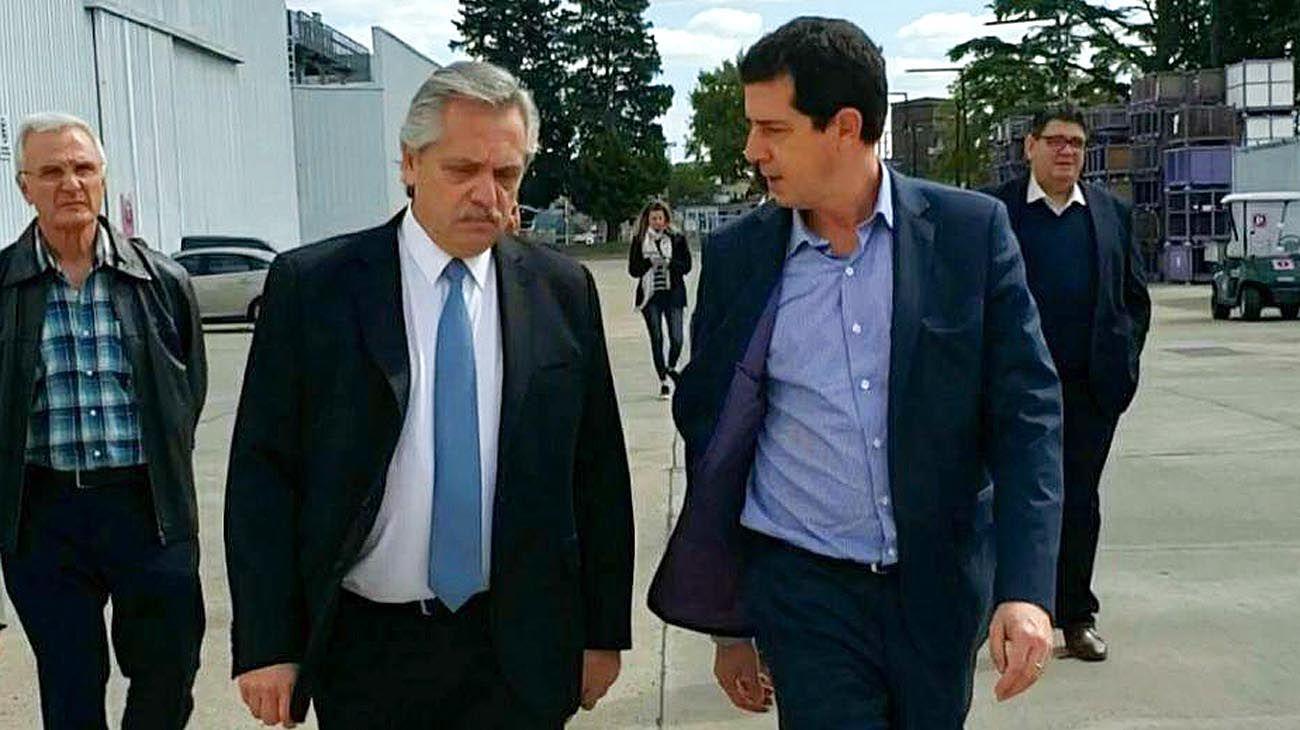 El presidente Alberto Fernández y Wado De Pedro