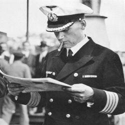 Hans Langsdorff, capitán del Graf Spee.