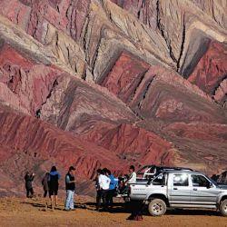 El Hornocal y su combinación colorida, añeja caliza de 75 millones de años.