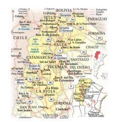 Mapa del norte argentino.
