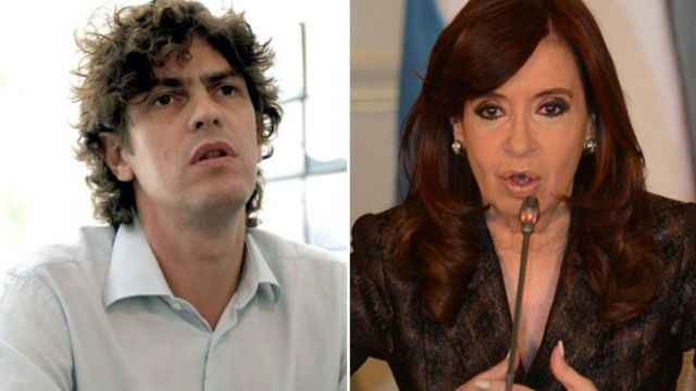 Martín Lousteau y Cristina Kirchner.