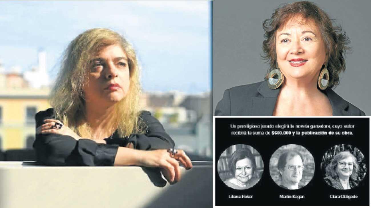 """Fervores. Mariana Enríquez (izq.), Diana Saiegh (der. arriba.) y Martín Kohan (rebautizado """"Kogan"""")."""