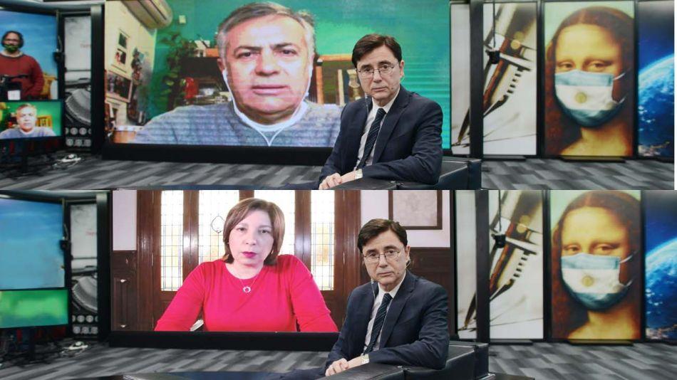 Interior. Alfredo Cornejo y Arabela Carreras, de Río Negro.