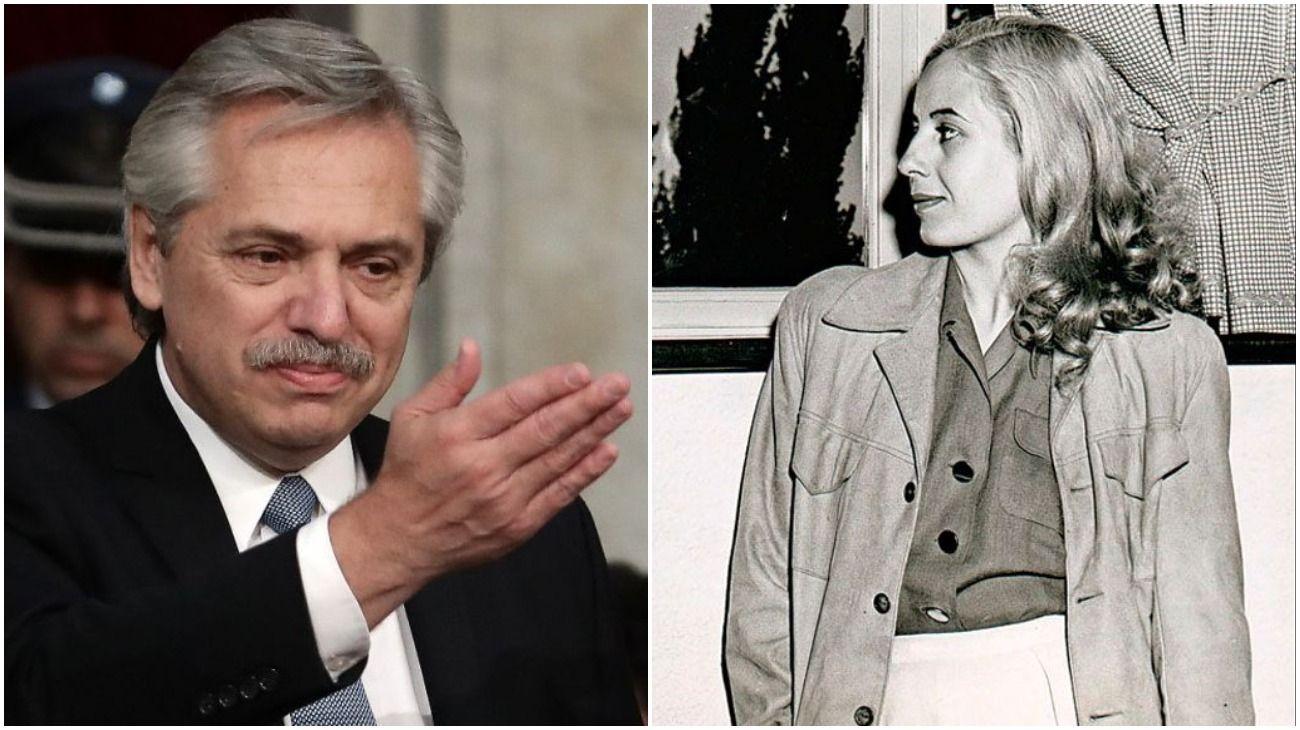 Alberto Fernández y Axel Kicillof recordaron a Eva Perón con mensajes en sus redes