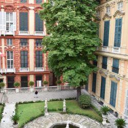 El Palazzo Tursi, sede del gobierno municipal de Génova, pone de manifiesto el rico pasado de esta antigua metropólis del comercio mediterráneo. Foto: Ute Müller/dpa