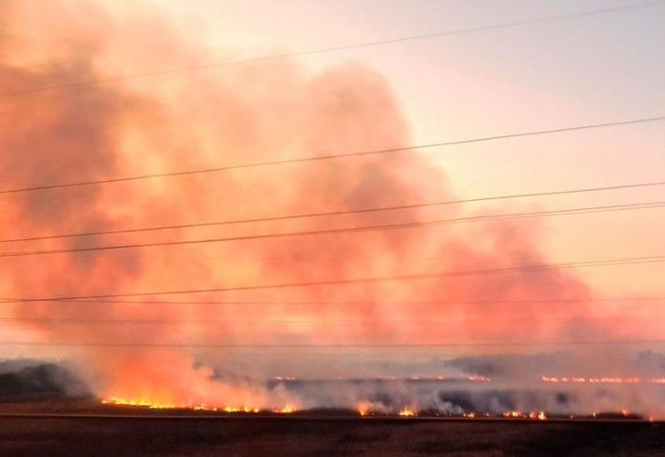Los incendios son del lado de Entre Ríos y Rosario es la ciudad que se ve más afectada por el humo de las llamas.