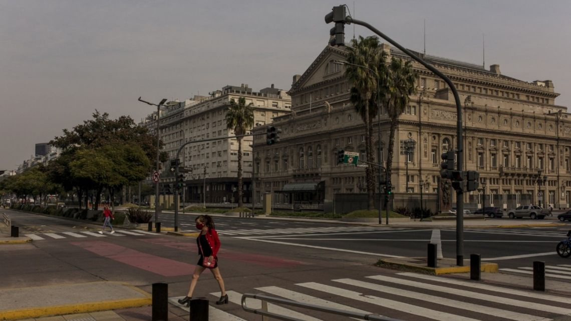 Buenos Aires, pictured during the coronavirus lockdown.