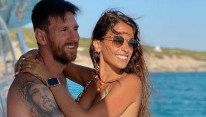 Messi y Antonela en Ibiza 2020
