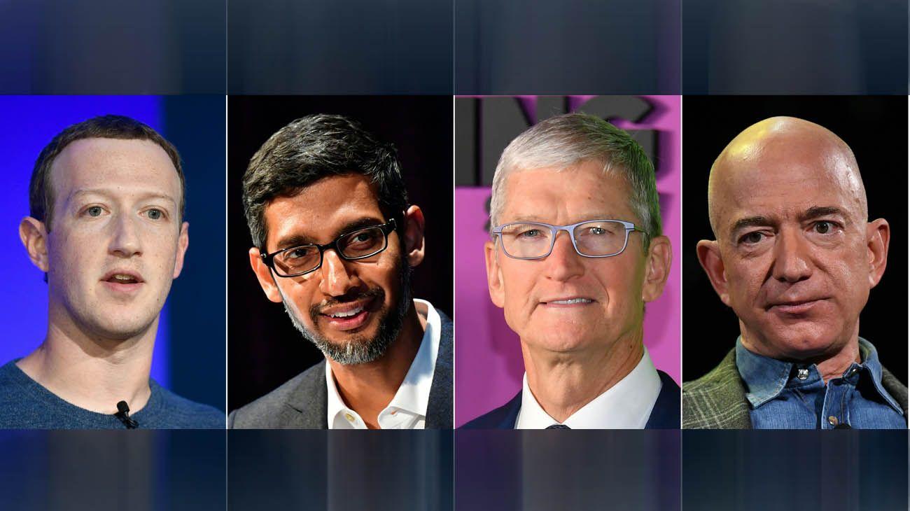 Facebook, Google, Apple y Amazon contestaron preguntas durante cinco horas