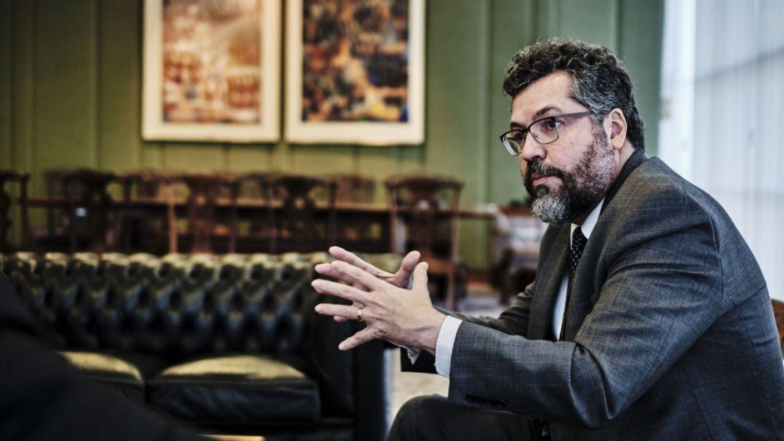 Brazil's Foreign Minister Ernesto Araujo.