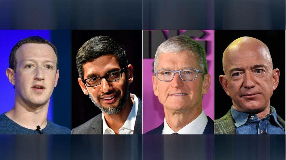 Mark Zuckerberg Jeff Bezos Tim Cook  Sundar Pichai 20200728