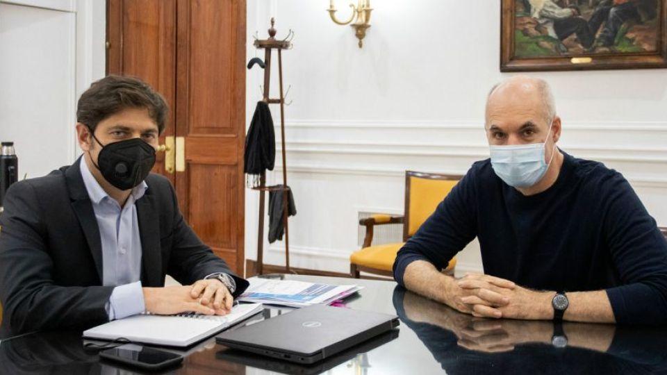 Horacio Rodríguez Larreta y Axel Kicillof.