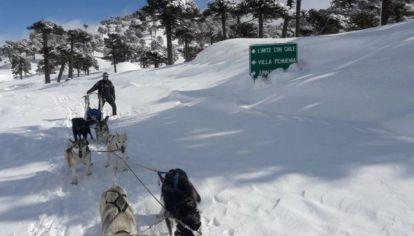 Por culpa de las intensas nevadas, Hernán no tuvo más remedio que hacer 50 km. en su trineo para llegar al supermercado más cercano.