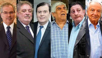 Felipe Solá, Gines González García, Gerardo Zamora. Hugo Moyano, Armando Cavallieri, Omar Viviani.