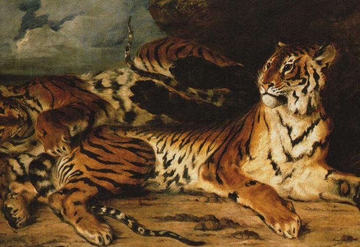 Tigre joven con su madre 20200729