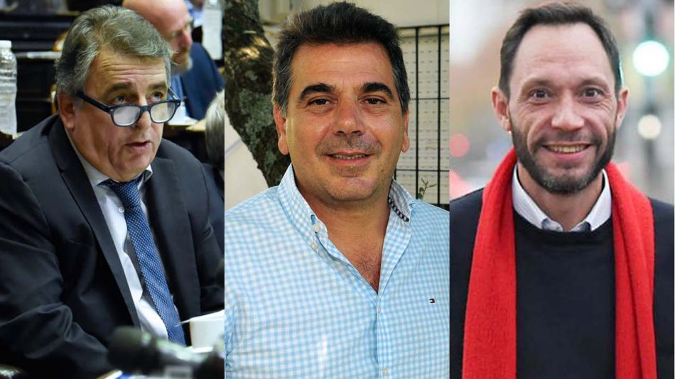 Mario Negri, Cristian Ritondo y Maximiliano Ferraro-20200729