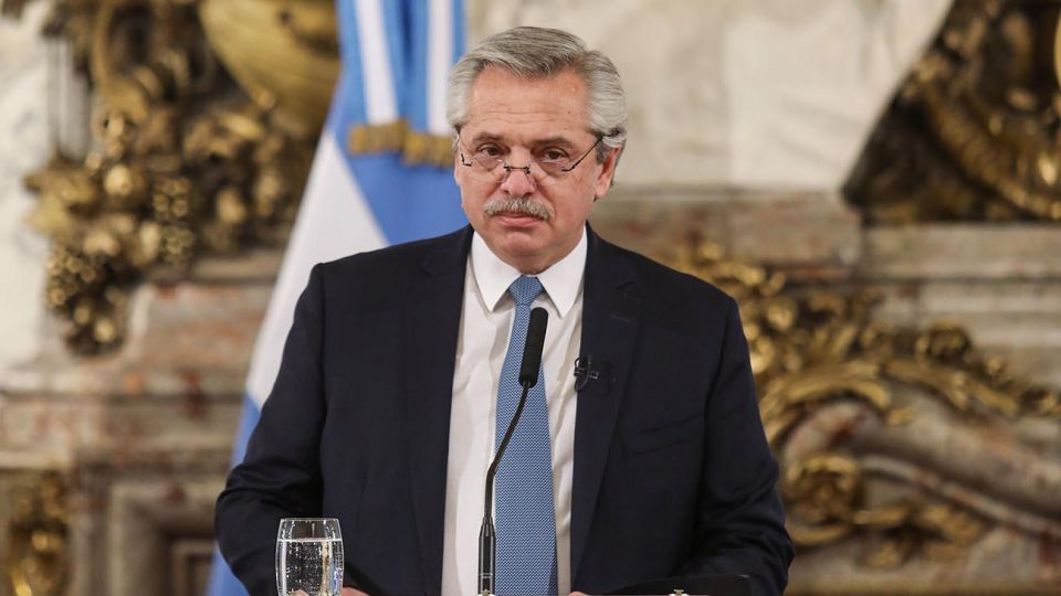 El presidente Alberto Fernandez.