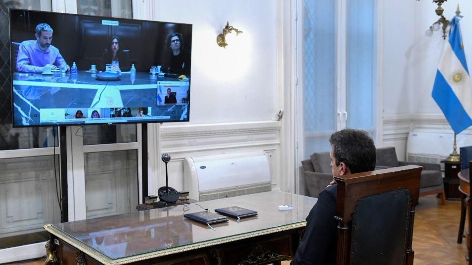 Sergio Massa, reunido en comisión en Diputados
