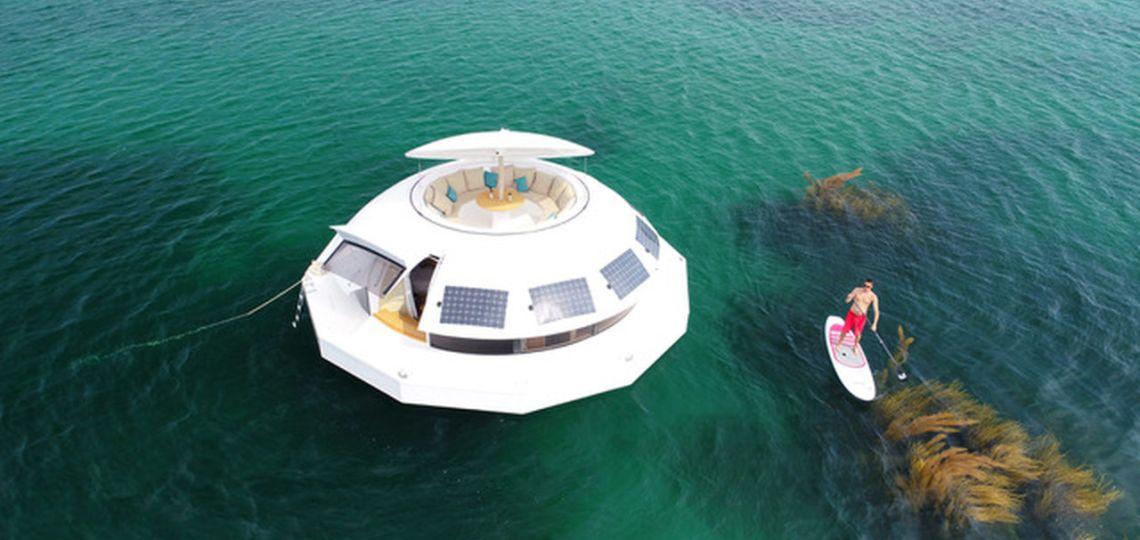 Así es la primera suite flotante de eco-lujo del mundo