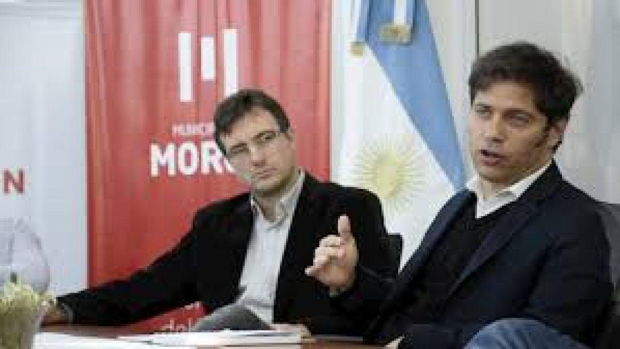 El intendente de Morón con el gobernador Axel Kicillof.  | Foto:Morón