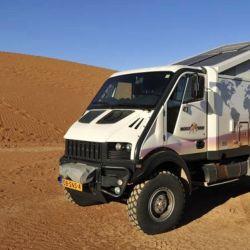 Uno de sus modelos emblema es el T-Rex, un camión 4x4 de aspecto casi militar.