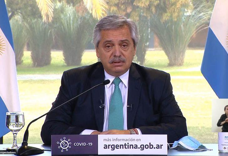Anuncio del presidente Alberto Fernández 20200731