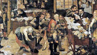 Pieter Brueghel el Joven. La oficina del recaudador de impuestos (c. 1615).