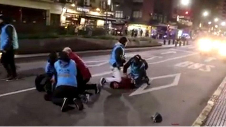 La represión se dio durante la desconcentración del evento