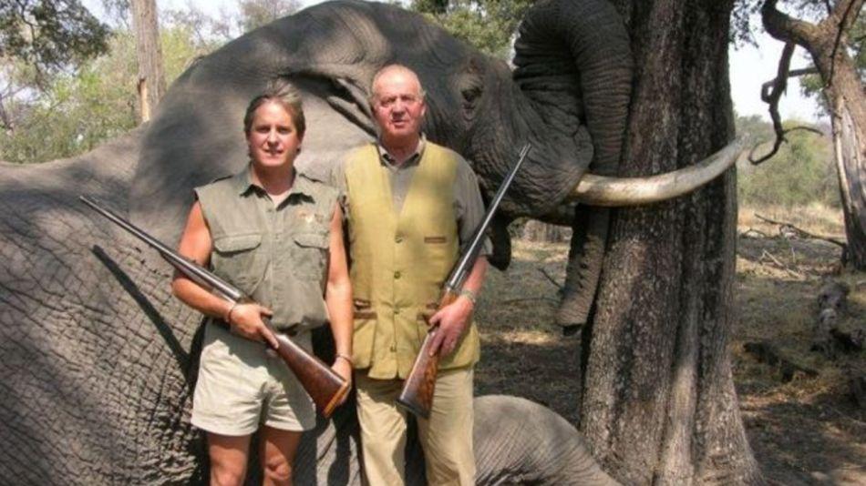 Juan Carlos cacería de elefantes